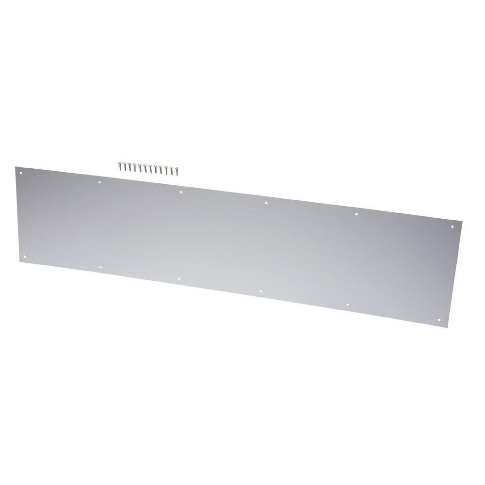 everbilt 10 in x 34 in stainless steel kick plate 14320 the home depot. Black Bedroom Furniture Sets. Home Design Ideas