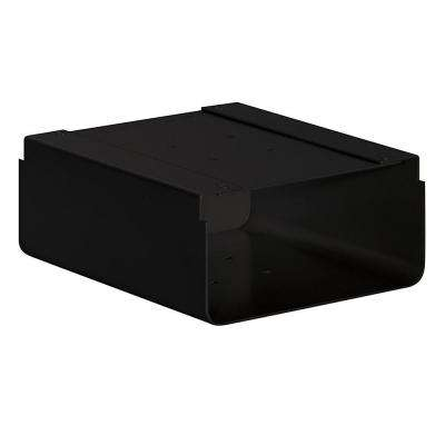 Newspaper Holder for Roadside Mailbox and Mail Chest, Black