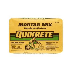 quikrete 60 lb mortar mix 110260 the home depot. Black Bedroom Furniture Sets. Home Design Ideas