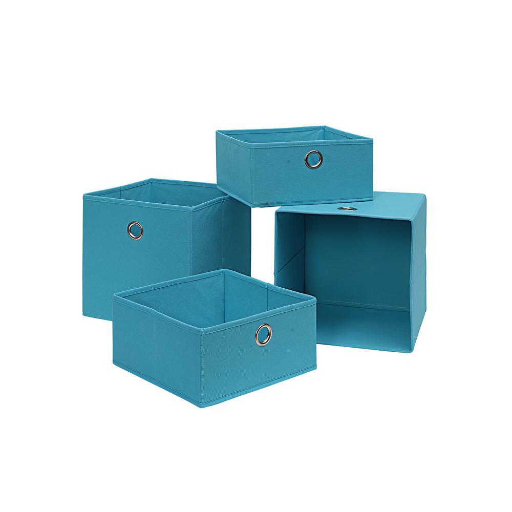 Neu Home 10.5 in. x 10.5 in. Blue 4-Cube Organizer