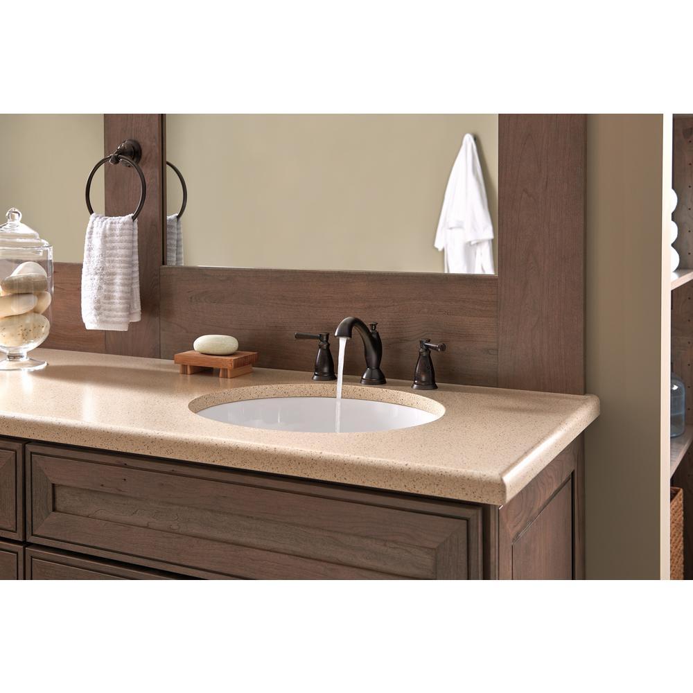 Linden 8 in. Widespread 2-Handle Bathroom Faucet in Venetian Bronze
