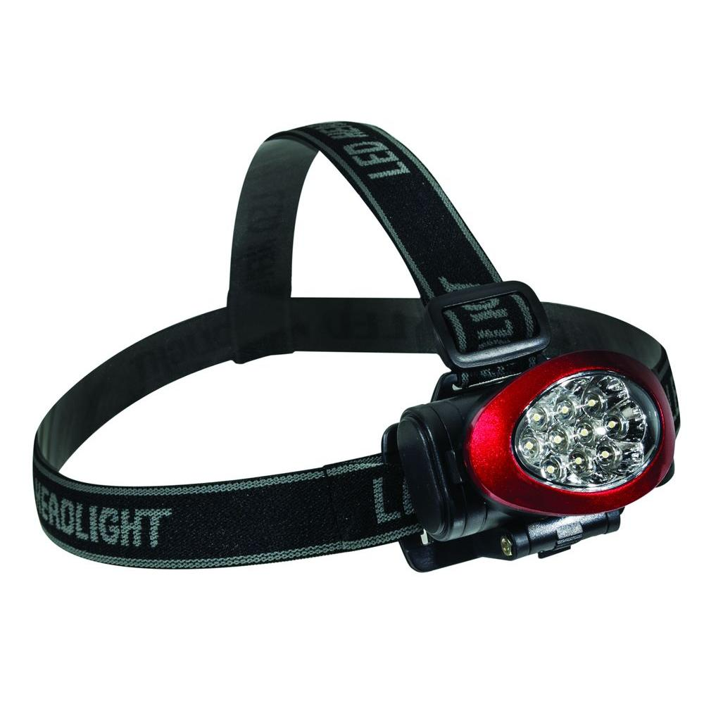 Power By Go Green 10 LED High Intensity Headlight, Red-GG