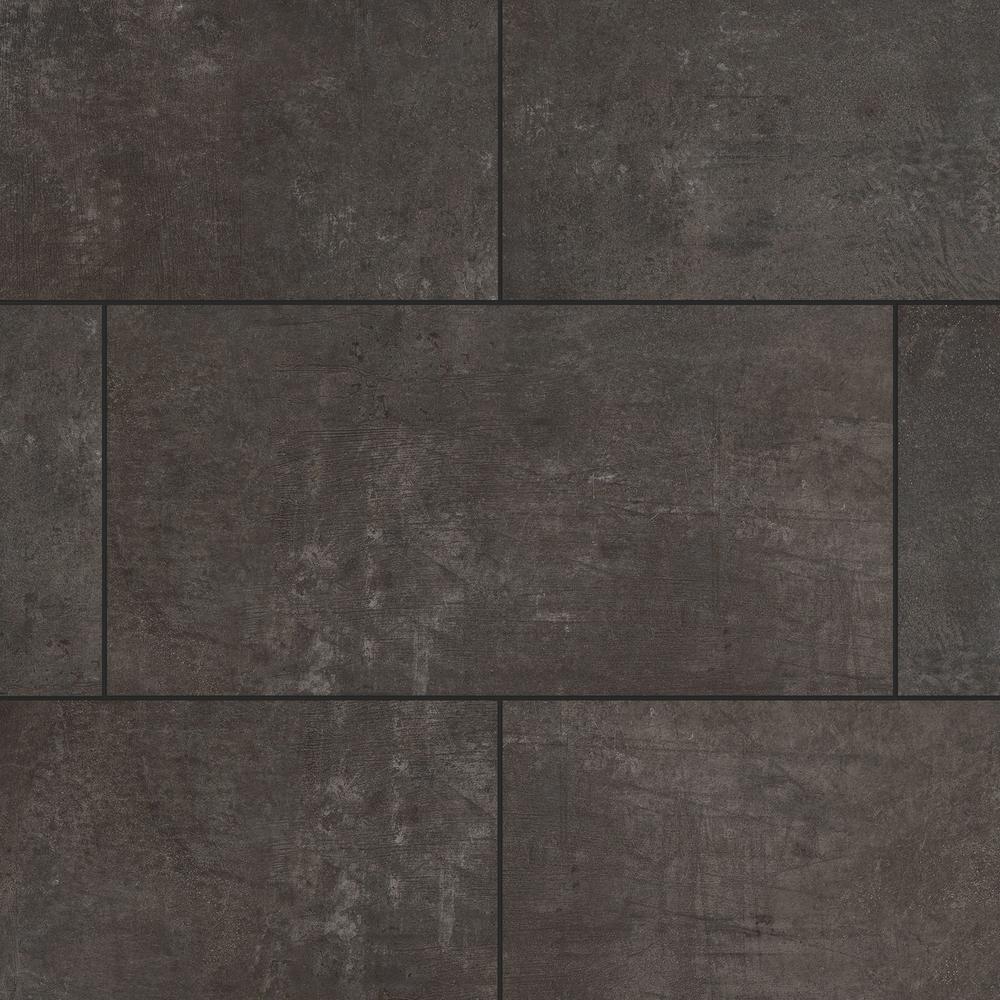 Lifeproof Castle Black Slate 12 In W X, Black Slate Waterproof Laminate Flooring