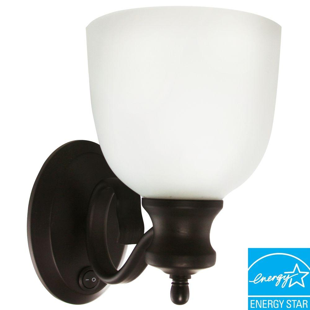 Efficient Lighting Traditional Family Wall Sconce in Oil Rubbed Bronze Finish with Bulbs-DISCONTINUED