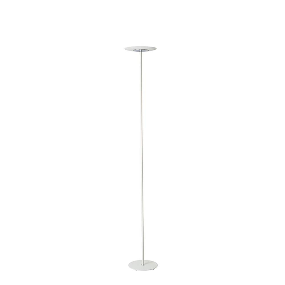 Ore international 72 in matte white led torchiere floor for Led torchiere floor lamp with dimmer