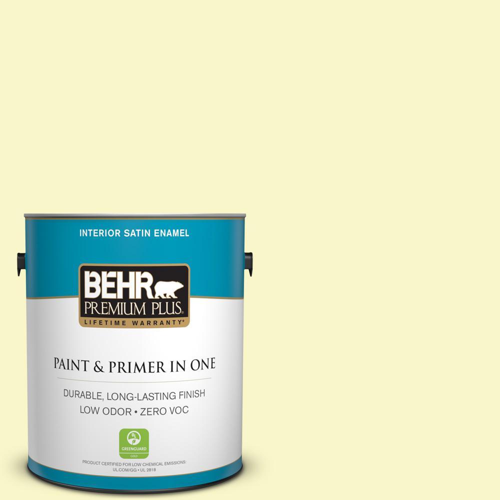 BEHR Premium Plus 1-gal. #PPL-20 Dancing Butterfly Zero VOC Satin Enamel Interior Paint