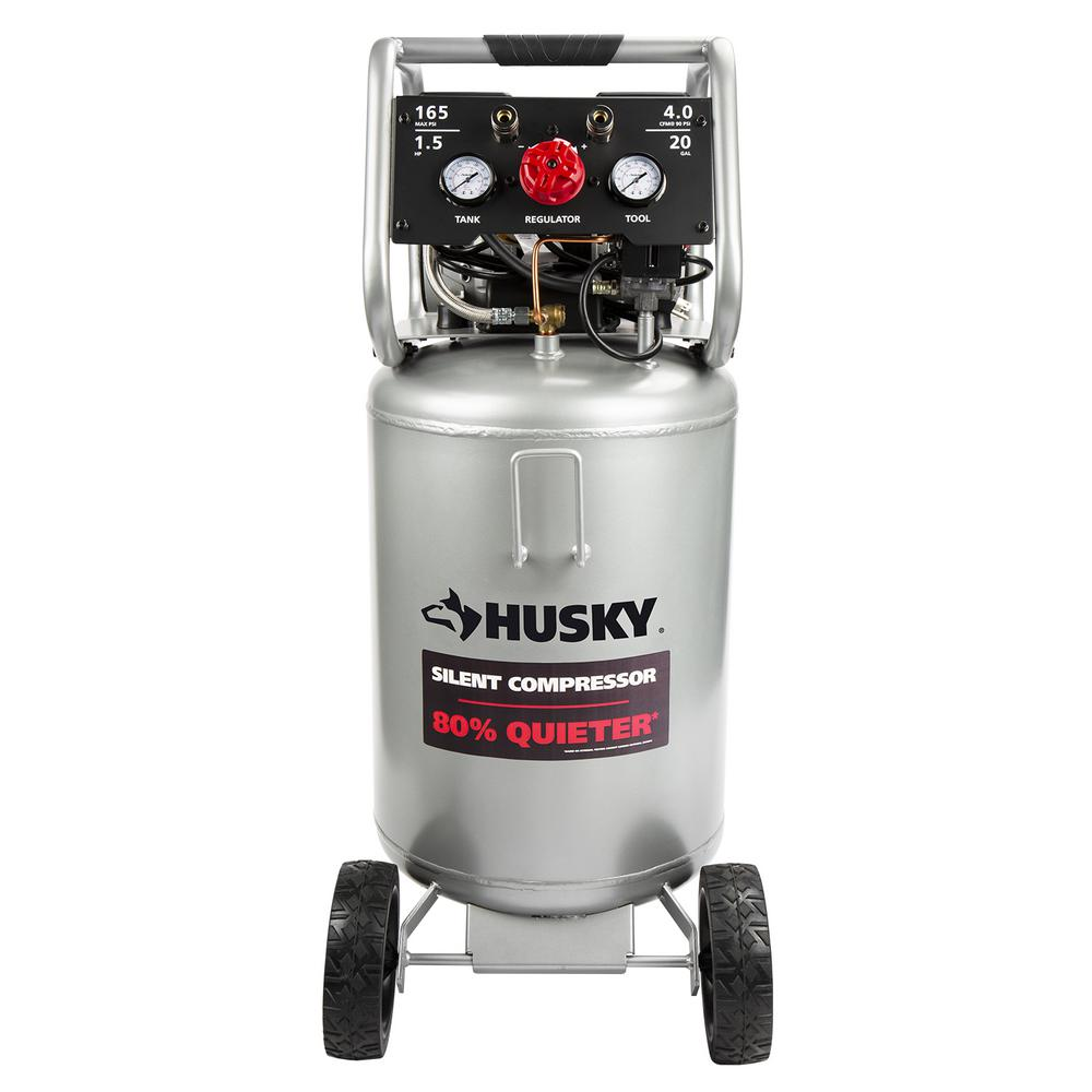 Husky 20 Gal Vertical Electric-Powered Silent Air Compressor