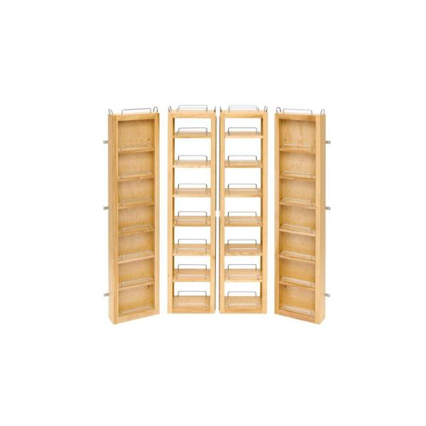 51 in. H x 12 in. W x 7.5 in. D Wood Swing-Out Cabinet Pantry Kit