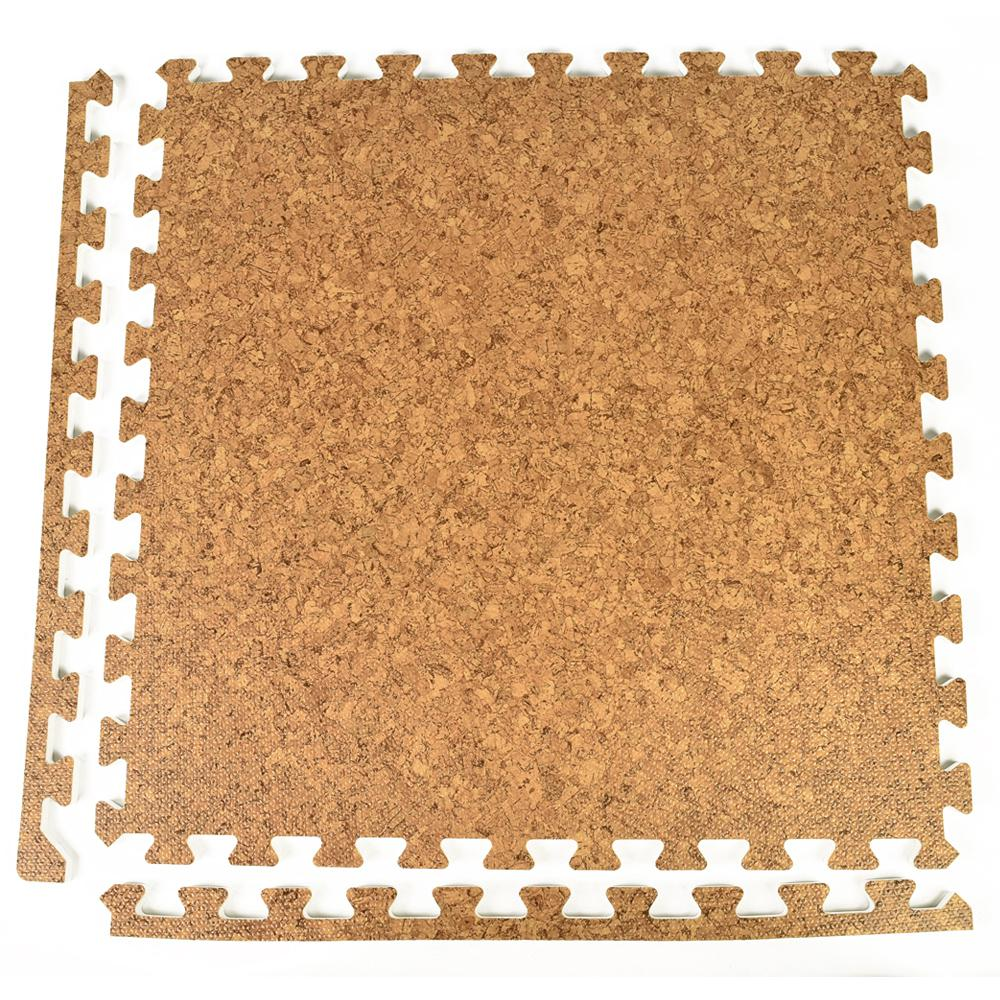 Greatmats Foamfloor Cork Design 2 Ft X 2 Ft X 12 In Foam