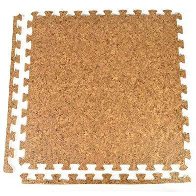 FoamFloor Cork Design 2 ft. x 2 ft. x 1/2 in. Foam Interlocking Floor Tiles (Case of 25)