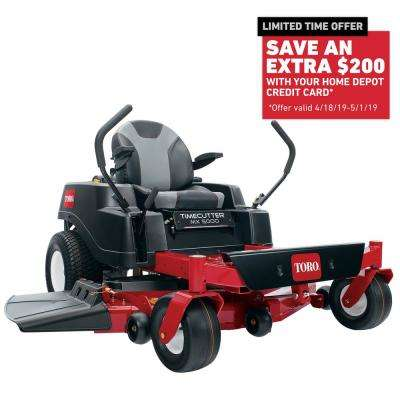 TimeCutter MX5000 50 in. Fabricated Deck 24-HP Kohler Commercial V-Twin Gas Dual Hydrostatic Zero Turn Riding Mower