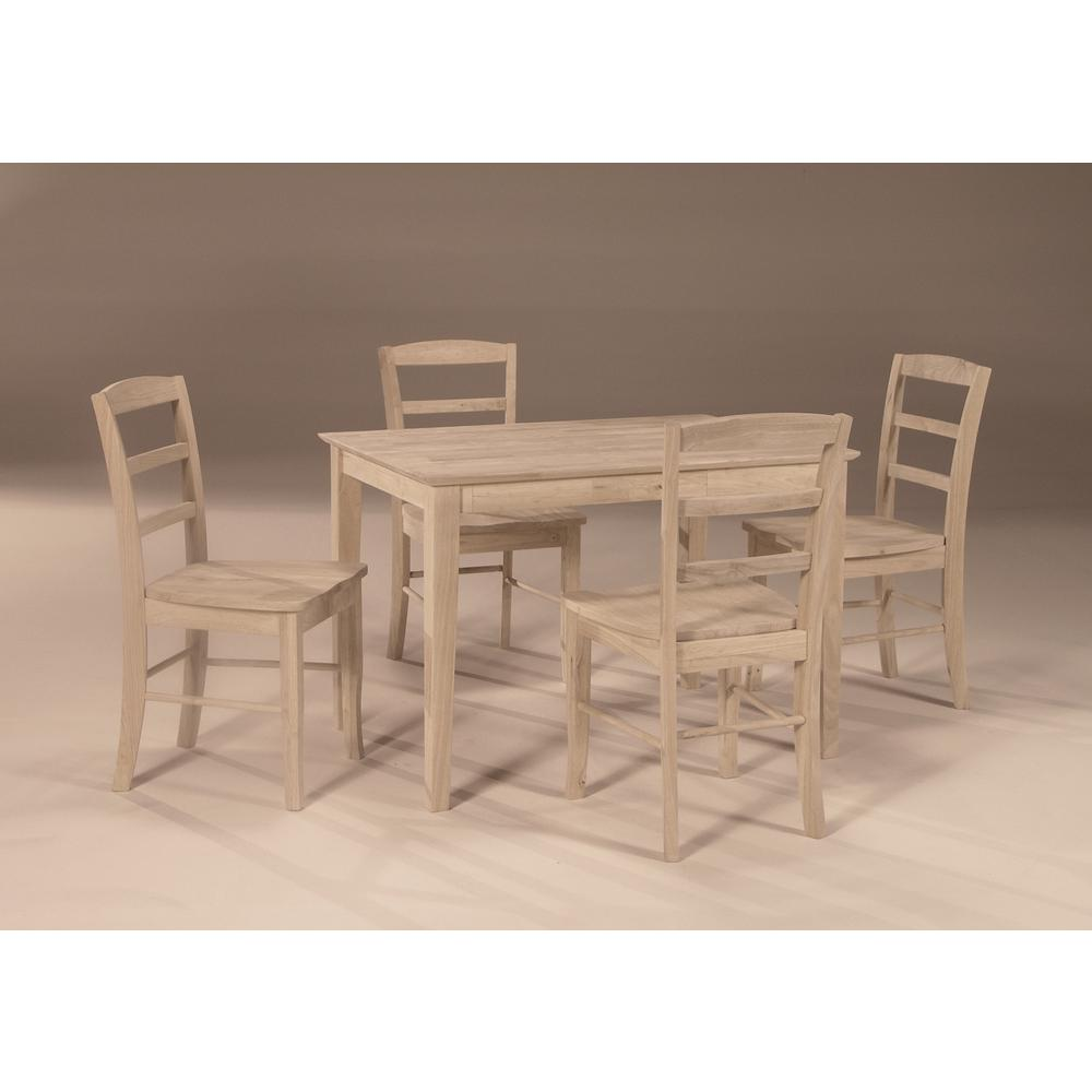 International Concepts Unfinished Skirted Dining Table K 3048 30s The Home Depot