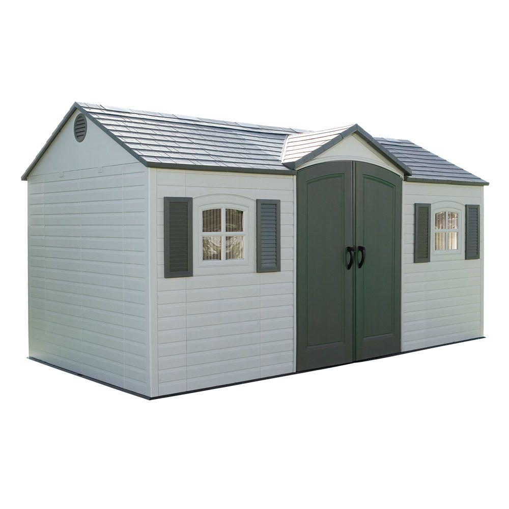 15 ft. x 8 ft. Outdoor Garden Shed - Plastic Sheds - Sheds - The Home Depot