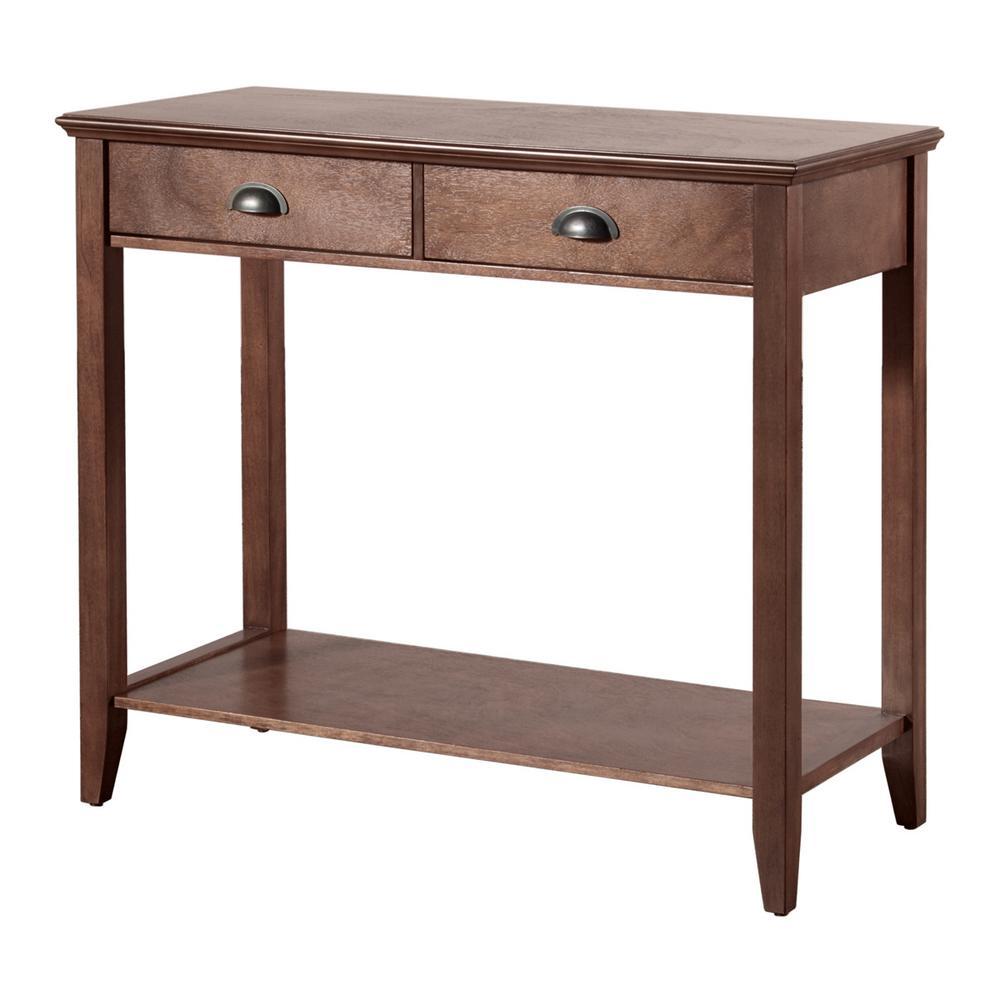 Sheridan Walnut Storage Console Table