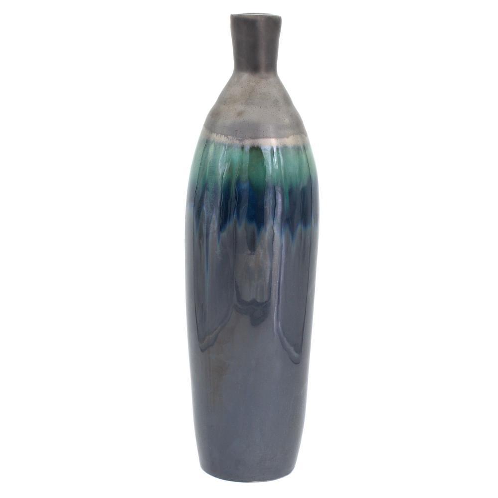 Patina Verde Rounded Bottle Vase