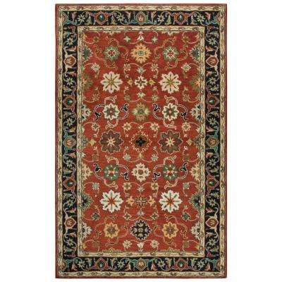 Stafford Red Multicolor 5 ft. x 8 ft. Rectangle Area Rug
