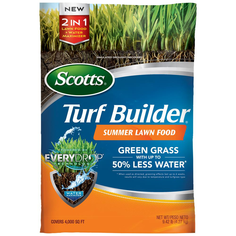 Scotts Turf Builder 4 m Summer Lawn Food-49021A1 - The Home Depot