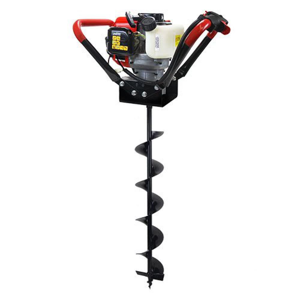 XtremepowerUS 55 cc 1-Man Post Hole Digger with 4in Earth Auger Bit