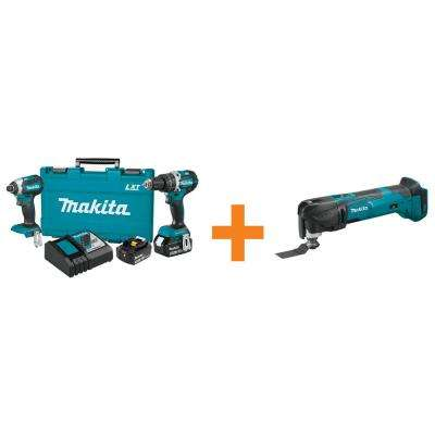 18-Volt LXT Lithium-Ion Brushless Cordless Hammer Drill and Impact Driver Combo Kit with Bonus Multi-Tool