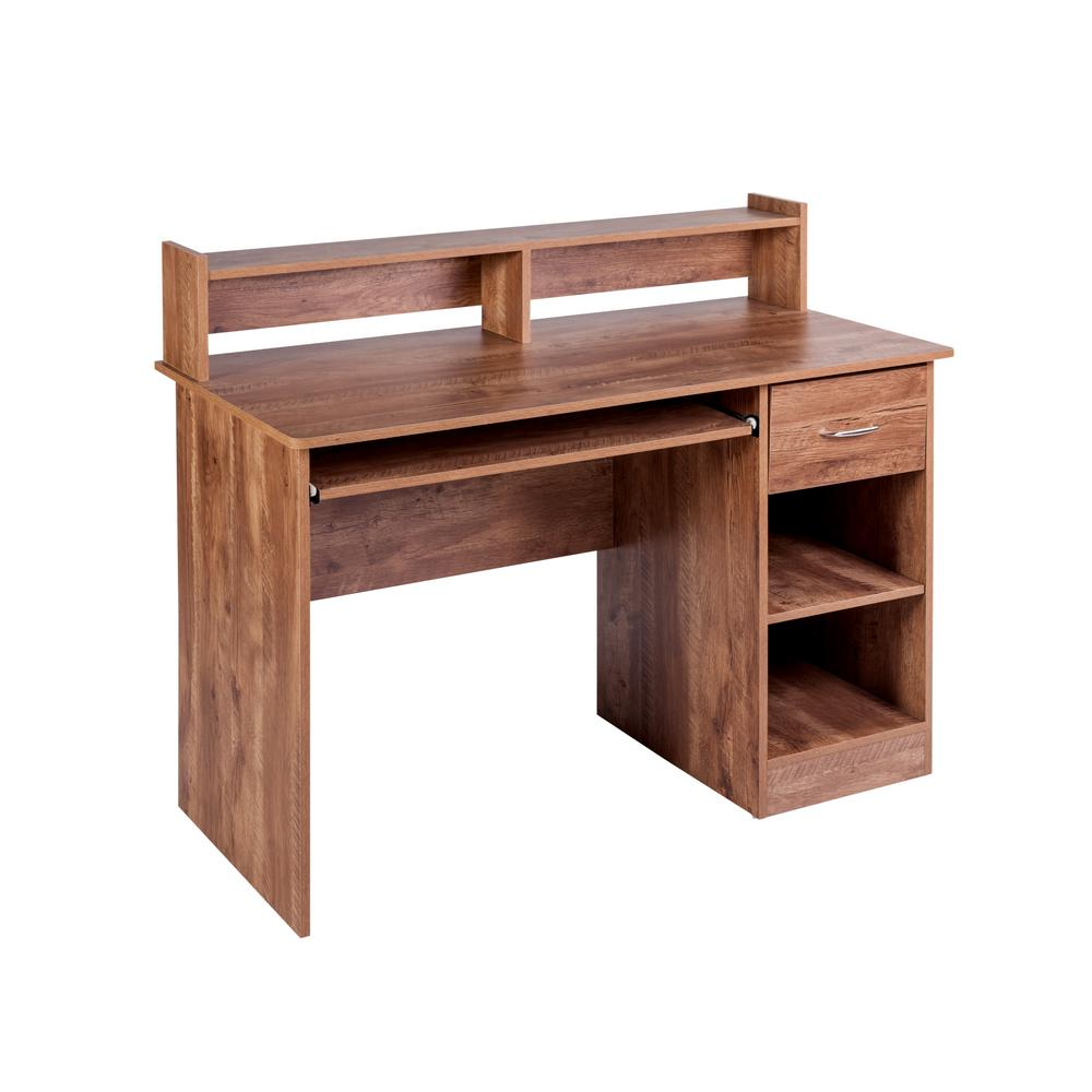 Onee Essential Clic Oak Computer Desk With Pull Out