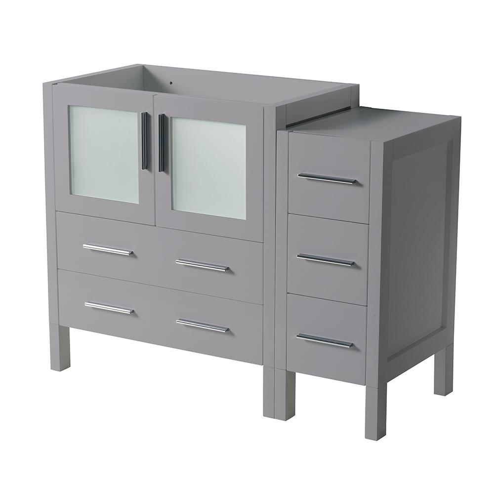 Torino 42 in. W Modern Bath Vanity Cabinet Only in Gray