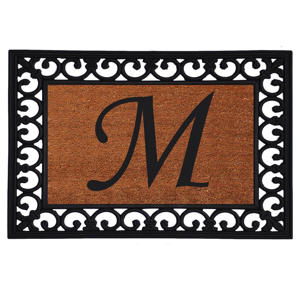 Monogram Insert Door Mat 19 in. x 25 in. (Letter M)
