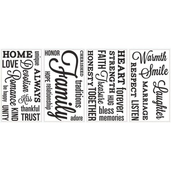 roommates in x in family quote peel and stick wall decal