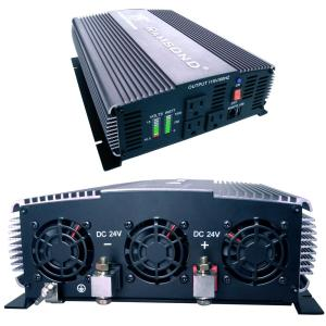 Sunray 1500-Watt Pure Sine Wave Intelligent DC to AC Battery and Solar Inverter
