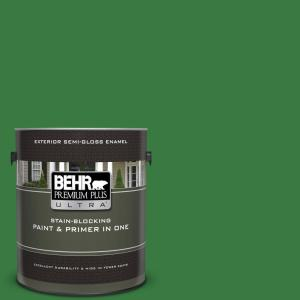 1 gal. #M390-7 Hills of Ireland Semi-Gloss Enamel Exterior Paint and Primer in One