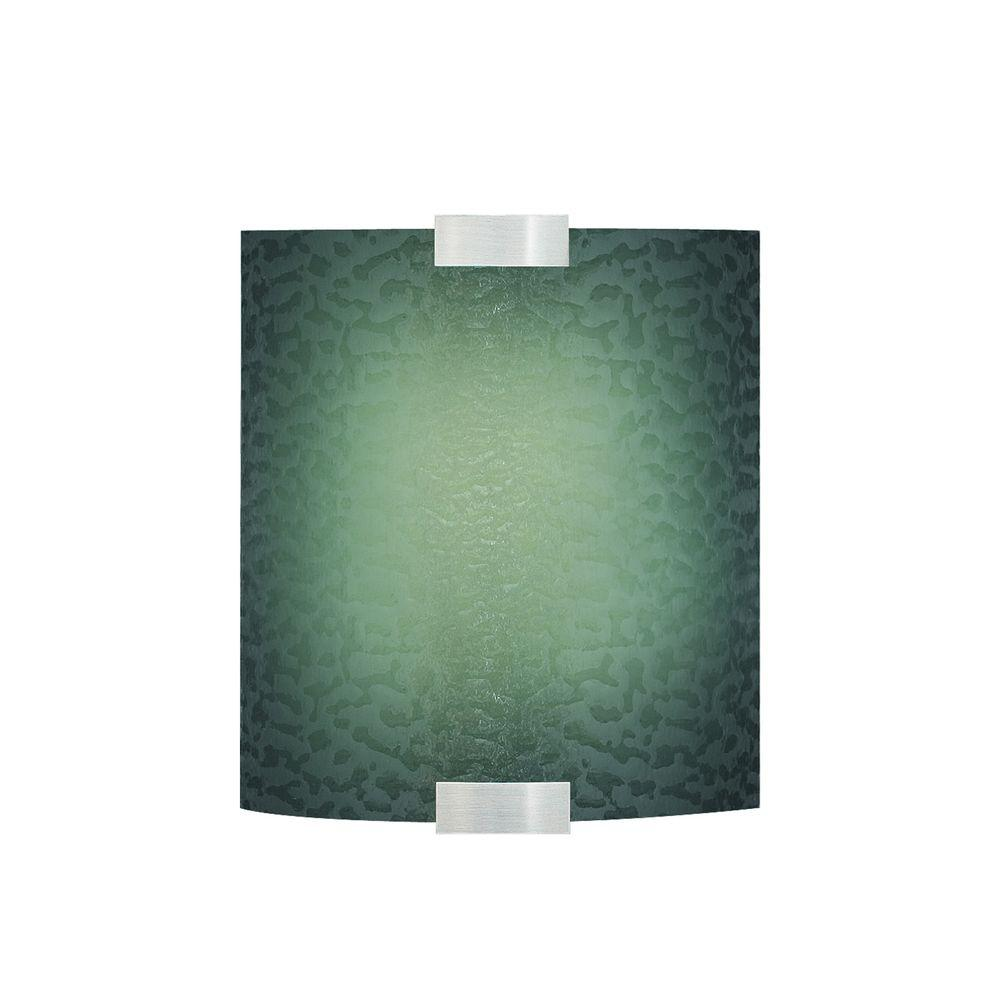 LBL Lighting Omni 1-Light Silver Small LED Sconce with Blue Shade
