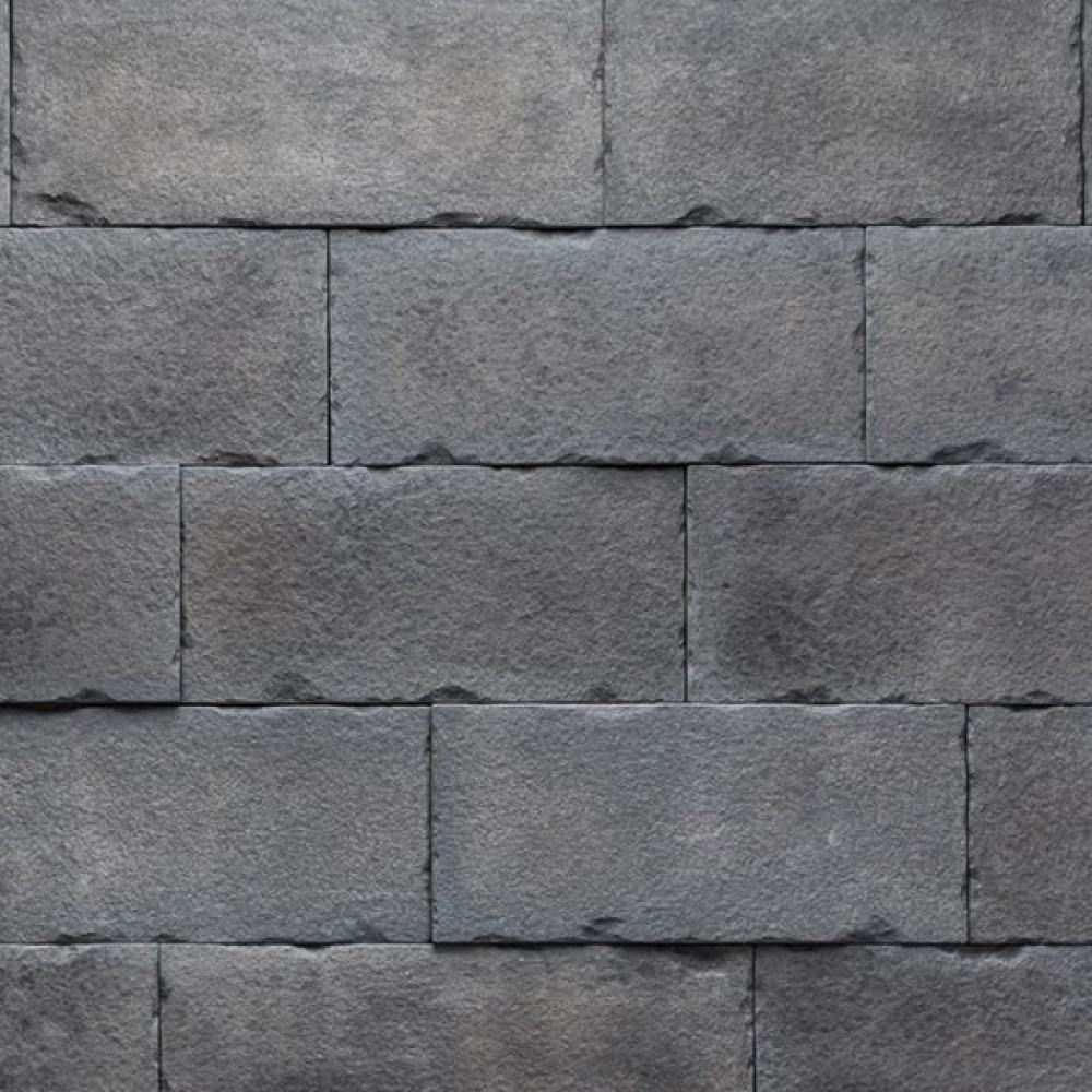 Boral Versetta 36 in. x 8 in. Stone Carved Block Midnight Stone Veneer Flat Panel (6-Bundles per Box), Black -  4210230