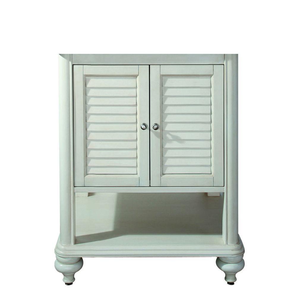 Avanity Tropica 24 in. W x 21 in. D x 34 in. H Vanity Cabinet Only in Antique White