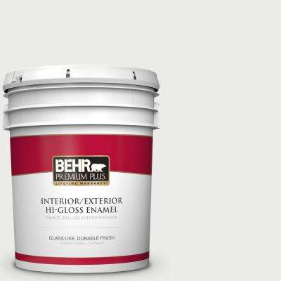 5 gal. #BL-W14 White Hi-Gloss Enamel Interior/Exterior Paint and Primer in One