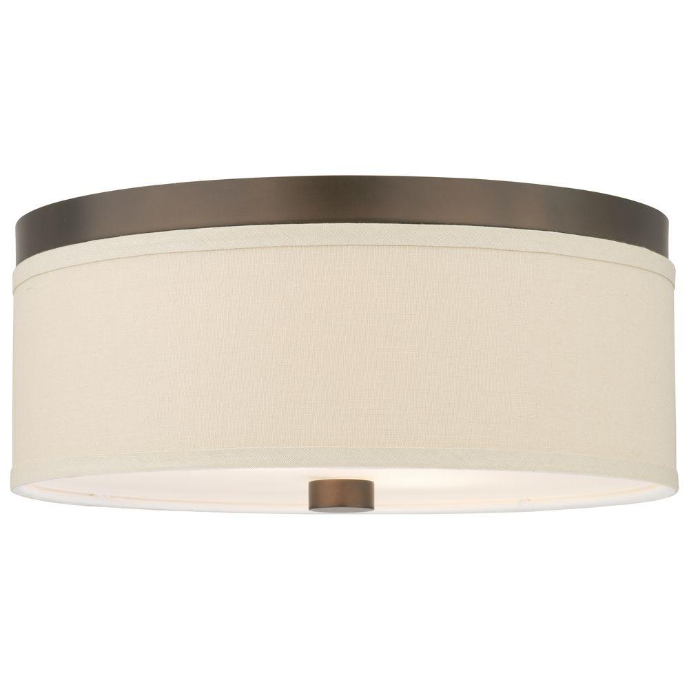 Embarcadero 2-Light Sorrel Bronze Ceiling Fixture
