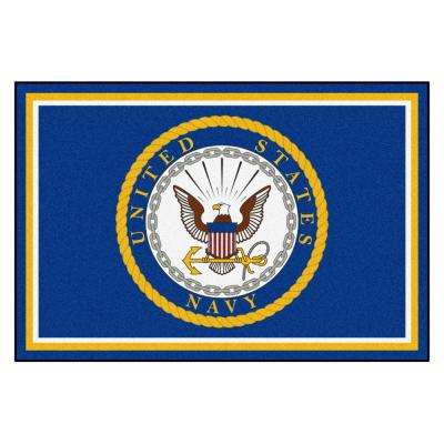 U.S. Navy 5 ft. x 8 ft. Ultra Plush Area Rug