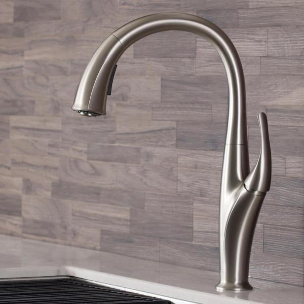 Odell Single-Handle Pull-Down Sprayer Kitchen Faucet with Dual Function Sprayhead in Spot Free Stainless Steel