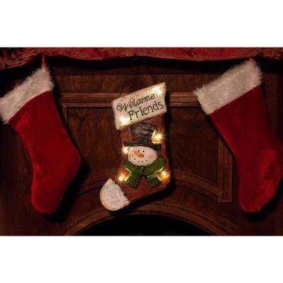 Christmas Stocking Light-up Hanging Wall Decor- TM