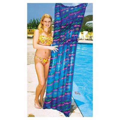 72 in. x 27 in. Assorted Contemporary Print Transparent Air Mat Pool Float