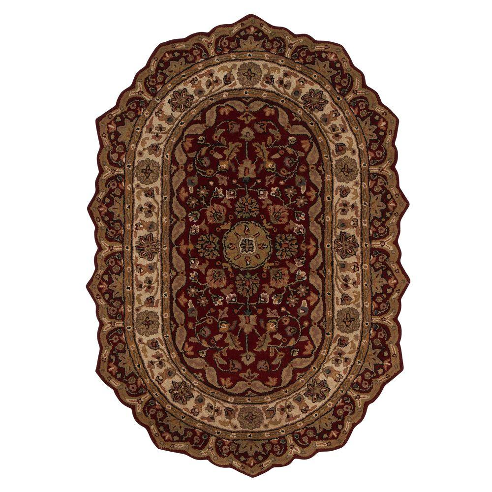Home Decorators Collection Masterpiece Red 7 ft. 6 in. x 9 ft. 6 in. Oval Area Rug