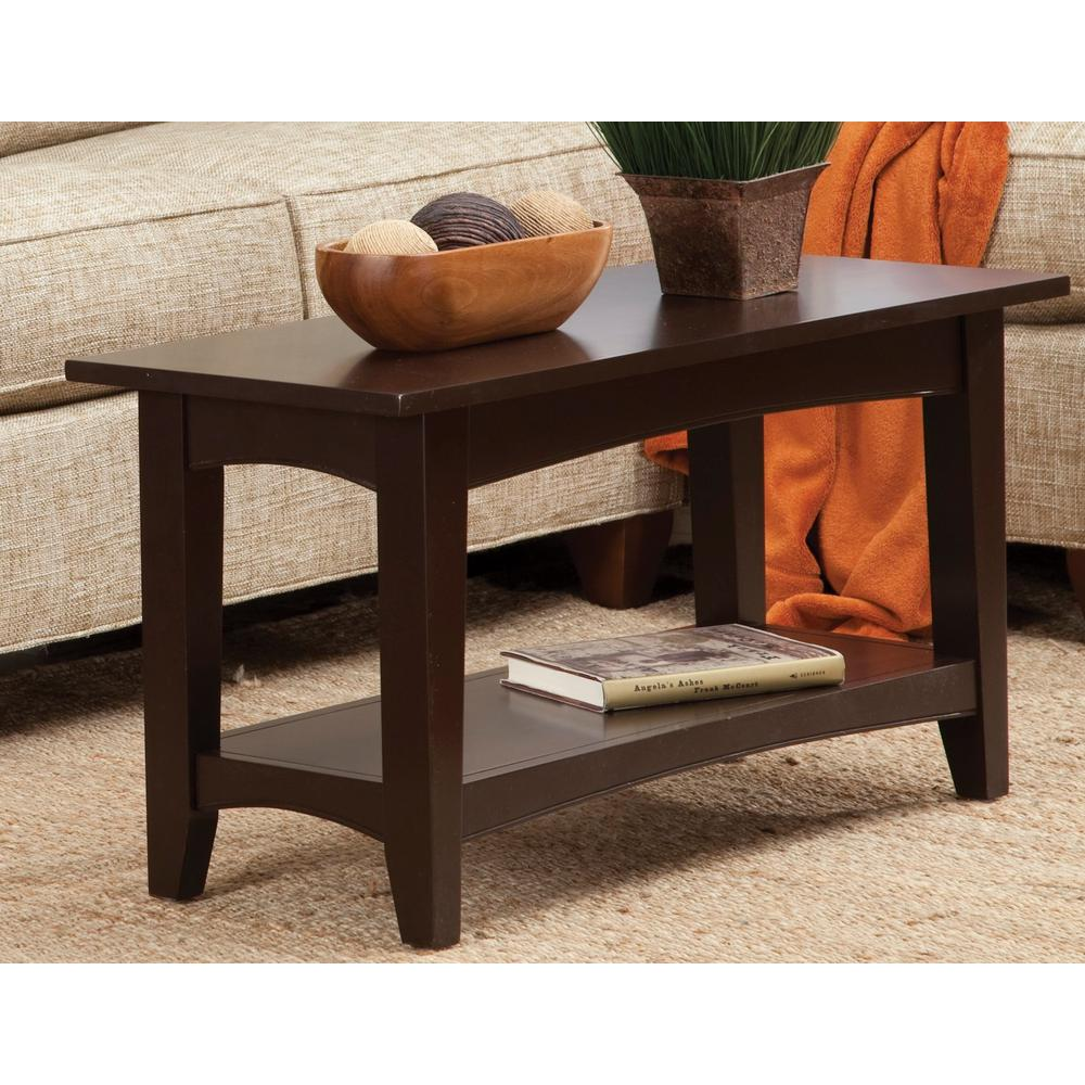 Gentil Alaterre Furniture Chocolate Storage Bench