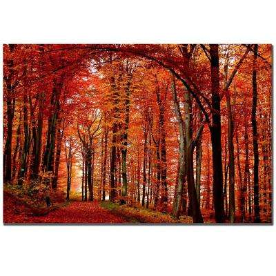 30 in. x 47 in. The Red Way Canvas Art