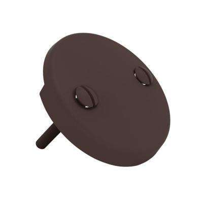 Waste and Overflow Faceplate with 2 Screws in Oil Rubbed Bronze