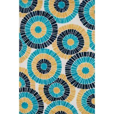 Cassidy Lifestyle Collection Blue/Multi 3 ft. 6 in. x 5 ft. 6 in. Area Rug