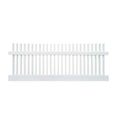 Monterey 4 ft x 8 ft. W White Vinyl Picket Fence Panel Kit