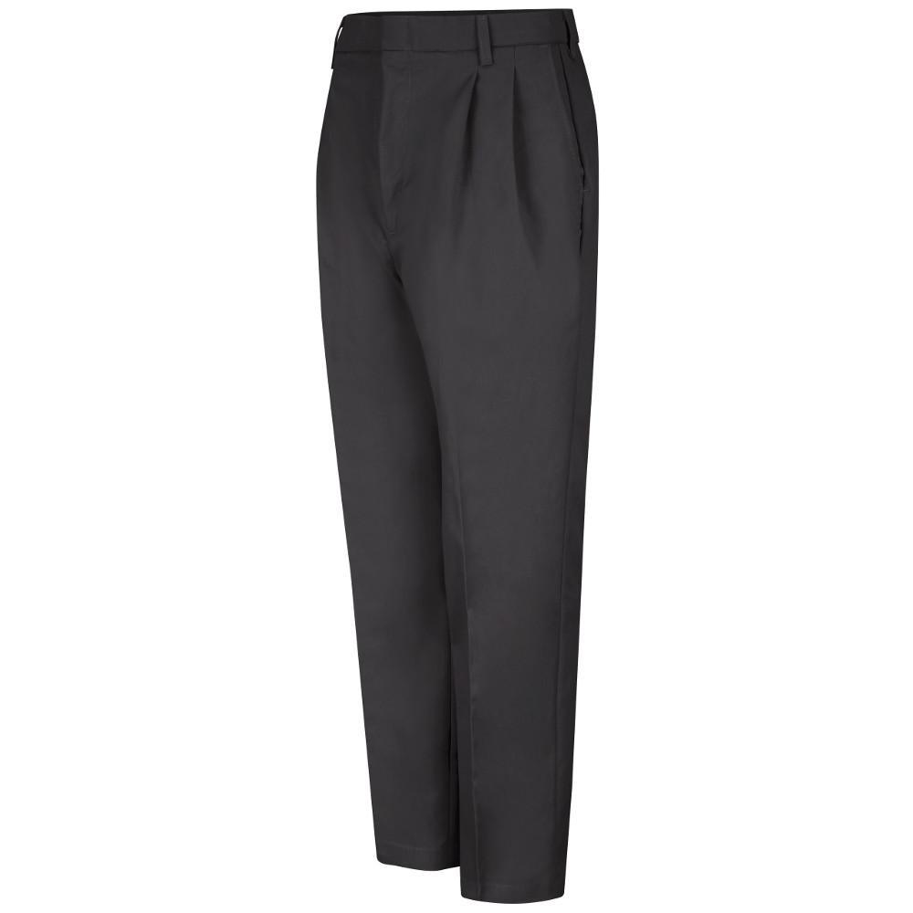 Red Kap Uniforms Men's Size 48 in. x 32 in. Black Pleated Twill Slacks