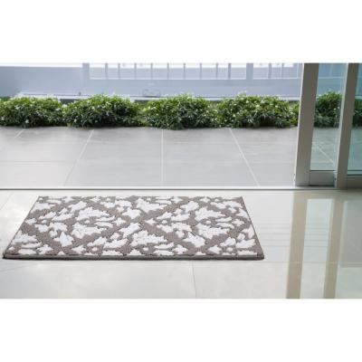 Mira Grey/Soft White 2 ft. x 3 ft. Loop Area Rug