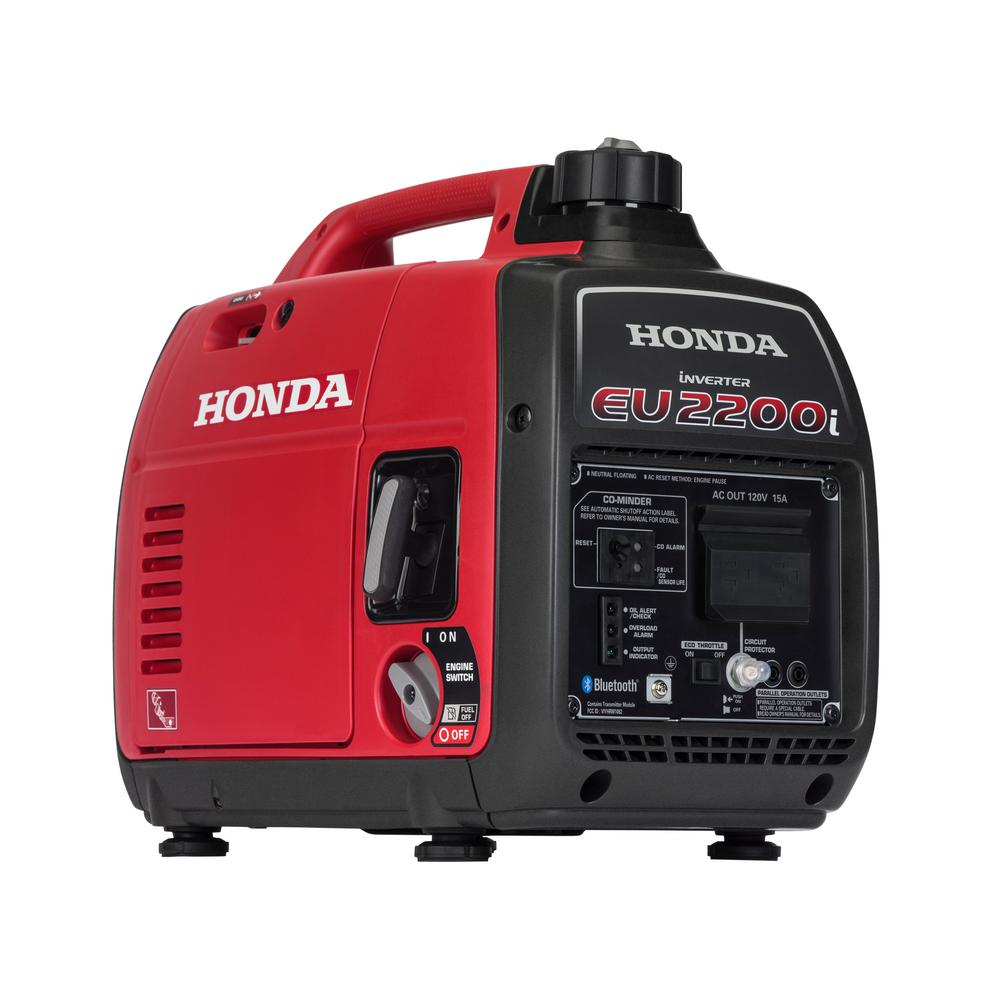 Honda 2200 Watt Recoil Start Gasoline Powered Inverter Generator With 20 Amp Outlet Eu2200i The Home Depot