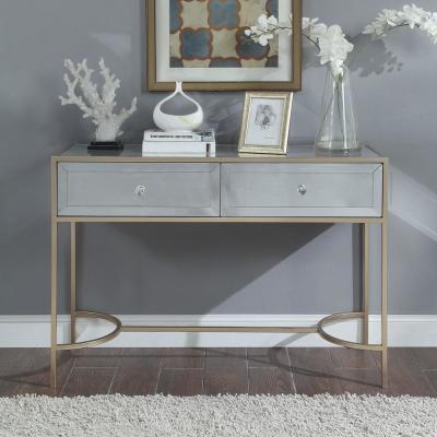 Wisteria Mirrored with Rose Gold Sofa Table