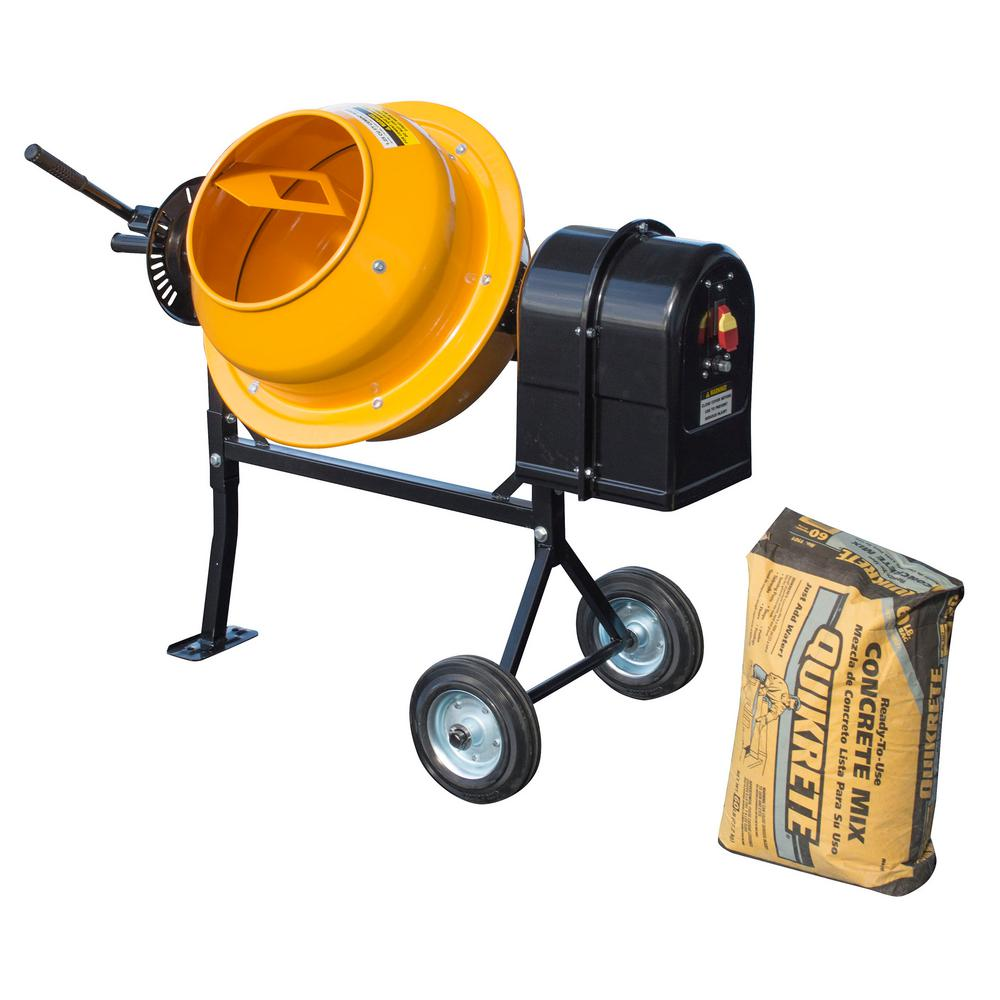 PRO-SERIES 1 25 cu  ft  1/4 HP Electric Cement and Concrete Mixer