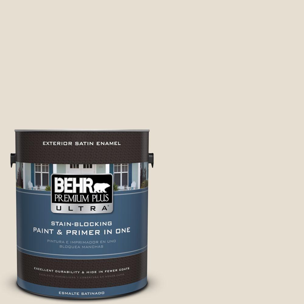 BEHR Premium Plus Ultra 1-gal. #750C-2 Hazelnut Cream Satin Enamel Exterior Paint